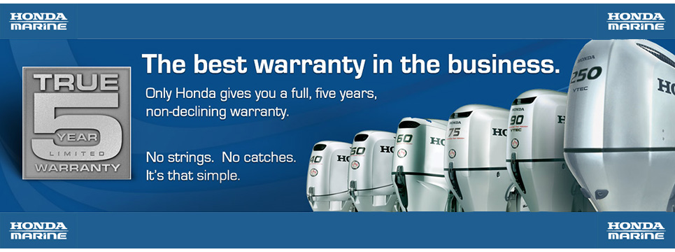 Boat repairs ireland honda marine outboard engines for Best outboard motor warranty